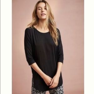 Floreat by Anthropologie black oversize Tee Small
